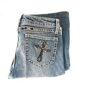 47 Rock by Wrangler WJN49MG Women's Jeans W1